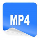 mp4 blue sticker icon