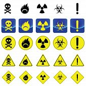 stock photo of bio-hazard  - Warning sign for radio active - JPG