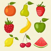 fruit and berries icons