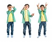 image of obscene gesture  - Kid singing doing time - JPG