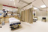 stock photo of emergency light  - Emergency intake area in a hospital - JPG