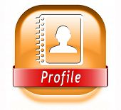 Profile personal account information and bio icon or button your avatar