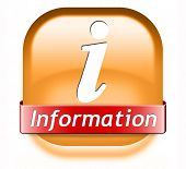 information sign button banner or label to search more details and find online info