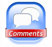 Comments button sign or icon, feedback on blog and give your opinion and testimonials