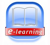 e-learning online education internet learning in open school or university virtual elearning icon bu