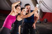 Fun Selfie At A Gym