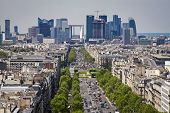 Paris Skyline Towards The Grande Arche