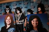 LOS ANGELES - MAY 21:  KISS, Finalists Posters  of Caleb Johnson and Jena Irene at the American Idol