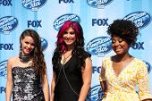 LOS ANGELES - MAY 21:  Kristen O'Connor, Jessica Meuse, Majesty Rose at the American Idol Season 13