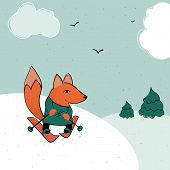 Fox Skiing