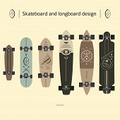 Skateboard And Longboard Design