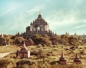 Buddhist Temples at Bagan Kingdom. Myanmar (Burma)