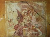 Frescoes in Pompeii ruines, Naples, Italy