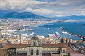 Naples bay and mount Vesuvius, Italy