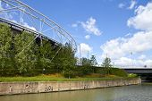 London Olympic Stadium And The River Lea
