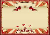 foto of cabaret  - Horizontal red circus retro - JPG