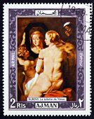 Postage Stamp Ajman 1969 Venus At A Mirror, Rubens