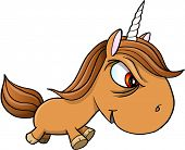 pic of unicorn  - Tough Bad Unicorn Vector Illustration Art - JPG