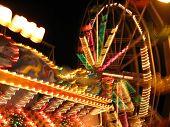 night-time funfair blur