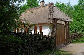 Farmer's house in open air museum Kiev Ukraine