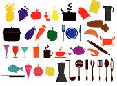 Food , Kitchen Icons.