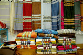 stock photo of handloom  - Tunisia - JPG