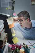 Businessman Reading Shocking News Online