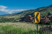 Traffic Sign In Mountains