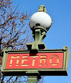 Classic Metro entrance sign