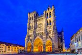 Notre-Dame of Amiens Cathedral. Vast, 13th-century Gothic edifice, famous for lavish decoration & carvings, with 2 unequal towers.