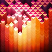 Vibrant Geometric Background, vector eps 10 illustration
