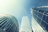 foto of canary  - Modern buildings in London - JPG