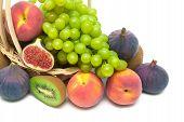 Fruit Closeup On White Background