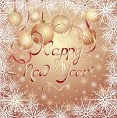 New Year's golden background