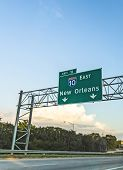 Exit Sign New Orleans On Interstate 10