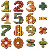 pic of poka dot  - scrapbook numbers and signs on white background - JPG