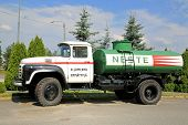 Vintage Zil 130 Tank Truck On A Yard