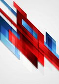 Blue and red hi-tech motion design. Vector background