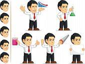 Office Worker Customizable Mascot 6