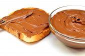chocolate cream and wheat toast