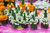 Flower Stupa For Sale At Luang Prabang, Laos