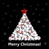 Christmas tree. New Year tree.
