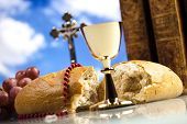 stock photo of eucharist  - Christian holy communion  - JPG