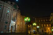 Carignano Square by night, Turin