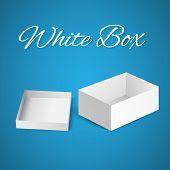 White gift carton box