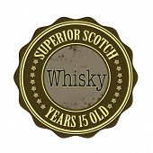 pic of scotch  - superior scotch whisky grunge stamp with on vector illustration - JPG