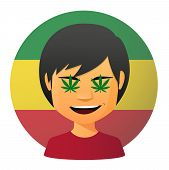 pic of rastafari  - Illustration of an isolated avatar with marijuana leafs - JPG