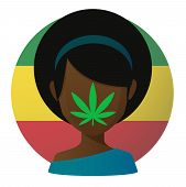 foto of rastaman  - Illustration of an isolated avatar with a marijuana leaf - JPG