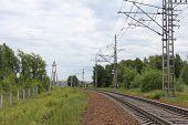 Railway lines.