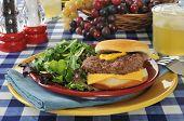 Cheeseburger With Salad